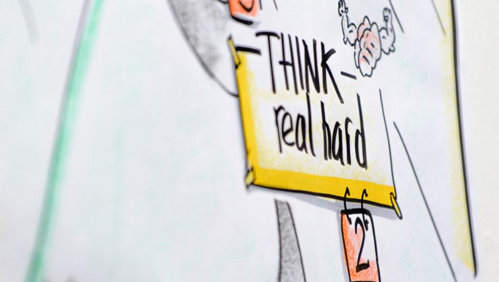 Think real hard